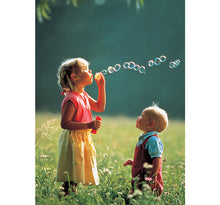 Blowing Bubbles is Wooden 1000 Piece Jigsaw Puzzle Toy For Adults and Kids