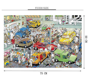 Car Service Station is Wooden 1000 Piece Jigsaw Puzzle Toy For Adults and Kids