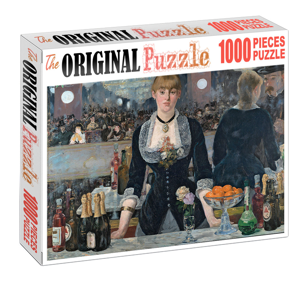 Bartender is Wooden 1000 Piece Jigsaw Puzzle Toy For Adults and Kids