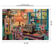 Tailor's Room is Wooden 1000 Piece Jigsaw Puzzle Toy For Adults and Kids