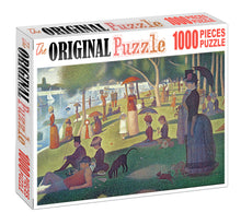 Evening Park Visit is Wooden 1000 Piece Jigsaw Puzzle Toy For Adults and Kids