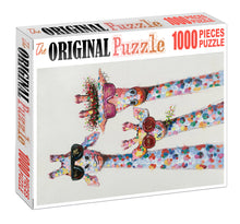 Fancy Giraffe is Wooden 1000 Piece Jigsaw Puzzle Toy For Adults and Kids