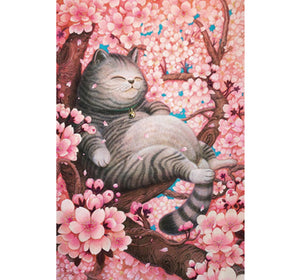 Fat Cat on the Tree is Wooden 1000 Piece Jigsaw Puzzle Toy For Adults and Kids