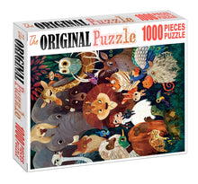 Vector Animal Drawing is Wooden 1000 Piece Jigsaw Puzzle Toy For Adults and Kids