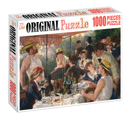 Lunch Party Wooden 1000 Piece Jigsaw Puzzle Toy For Adults and Kids
