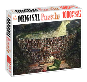 Dam of Books Wooden 1000 Piece Jigsaw Puzzle Toy For Adults and Kids