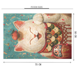Fortune Cat is Wooden 1000 Piece Jigsaw Puzzle Toy For Adults and Kids