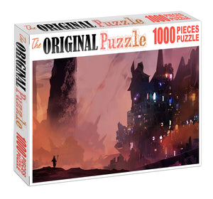 Lost City of Knights Wooden 1000 Piece Jigsaw Puzzle Toy For Adults and Kids