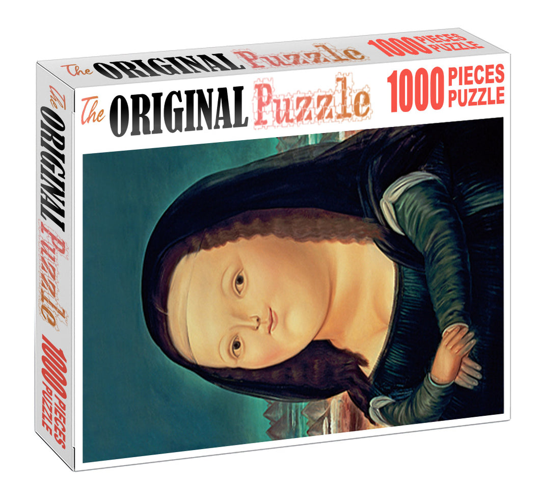 Chubby Mona Lisa Art is Wooden 1000 Piece Jigsaw Puzzle Toy For Adults and Kids