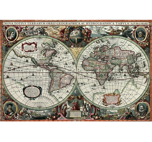 Two Sided World Map is Wooden 1000 Piece Jigsaw Puzzle Toy For Adults and Kids