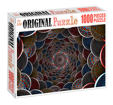 Loop Hole Pattern Wooden 1000 Piece Jigsaw Puzzle Toy For Adults and Kids