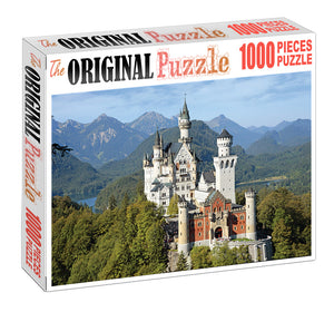 Castle in the Forest is Wooden 1000 Piece Jigsaw Puzzle Toy For Adults and Kids