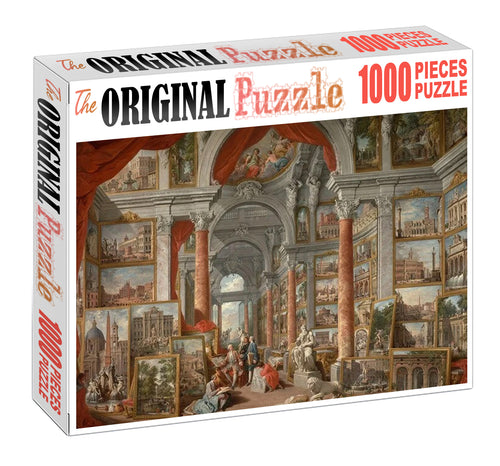 Painting Library Wooden 1000 Piece Jigsaw Puzzle Toy For Adults and Kids