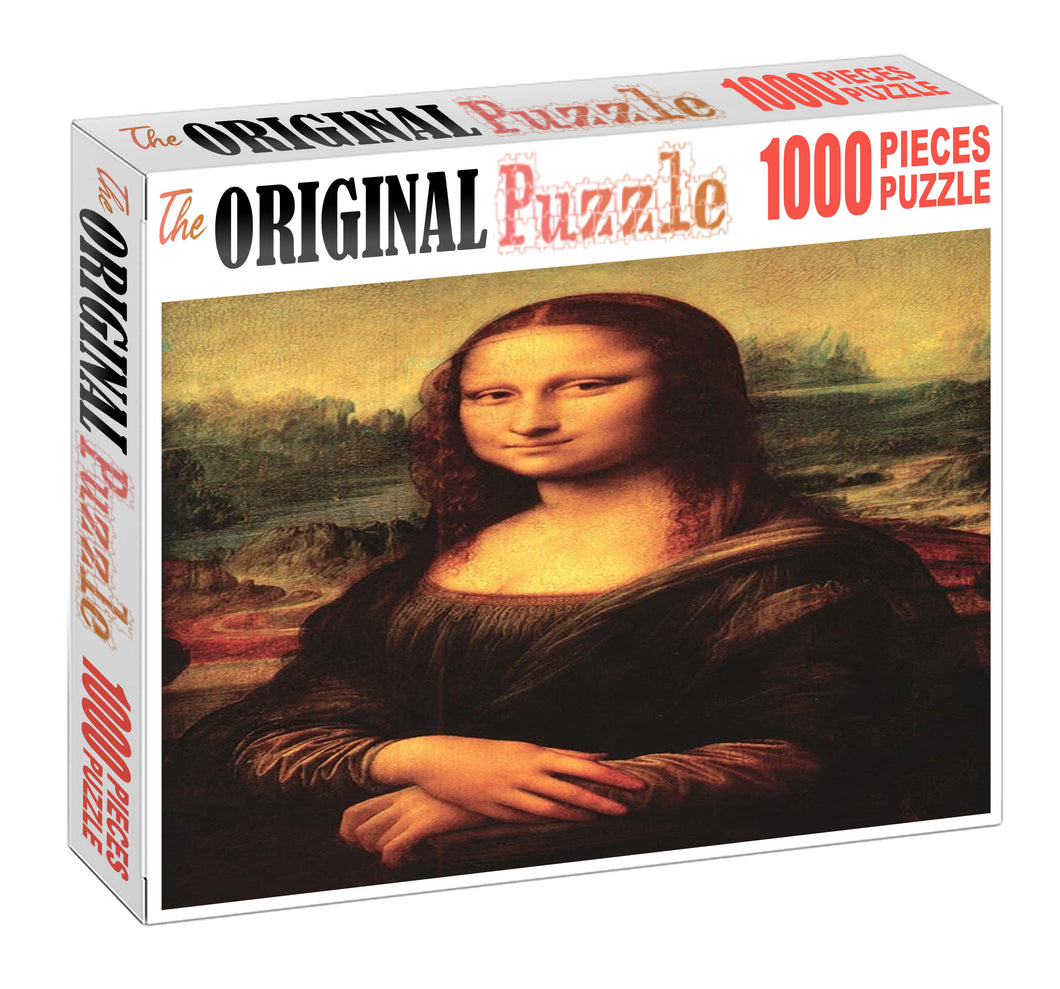 Painting of Mona Lisa Wooden 1000 Piece Jigsaw Puzzle Toy For Adults and Kids