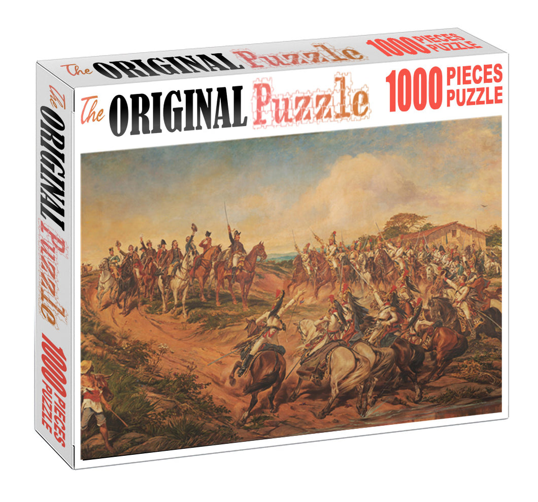 March for Fight Wooden 1000 Piece Jigsaw Puzzle Toy For Adults and Kids