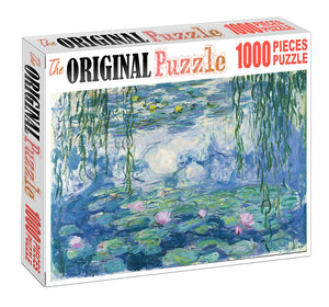Lotus Pond Wooden 1000 Piece Jigsaw Puzzle Toy For Adults and Kids