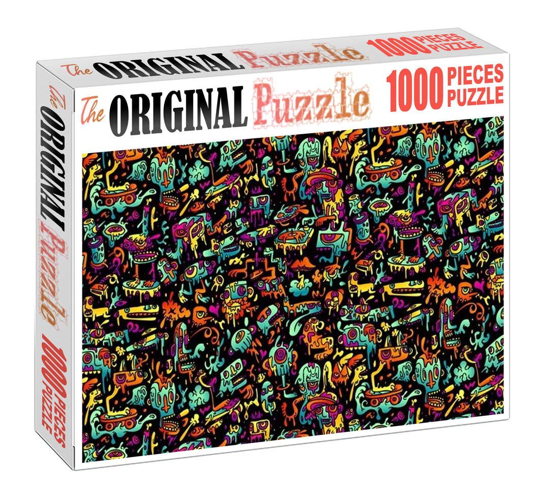 Slime Monsters Wooden 1000 Piece Jigsaw Puzzle Toy For Adults and Kids