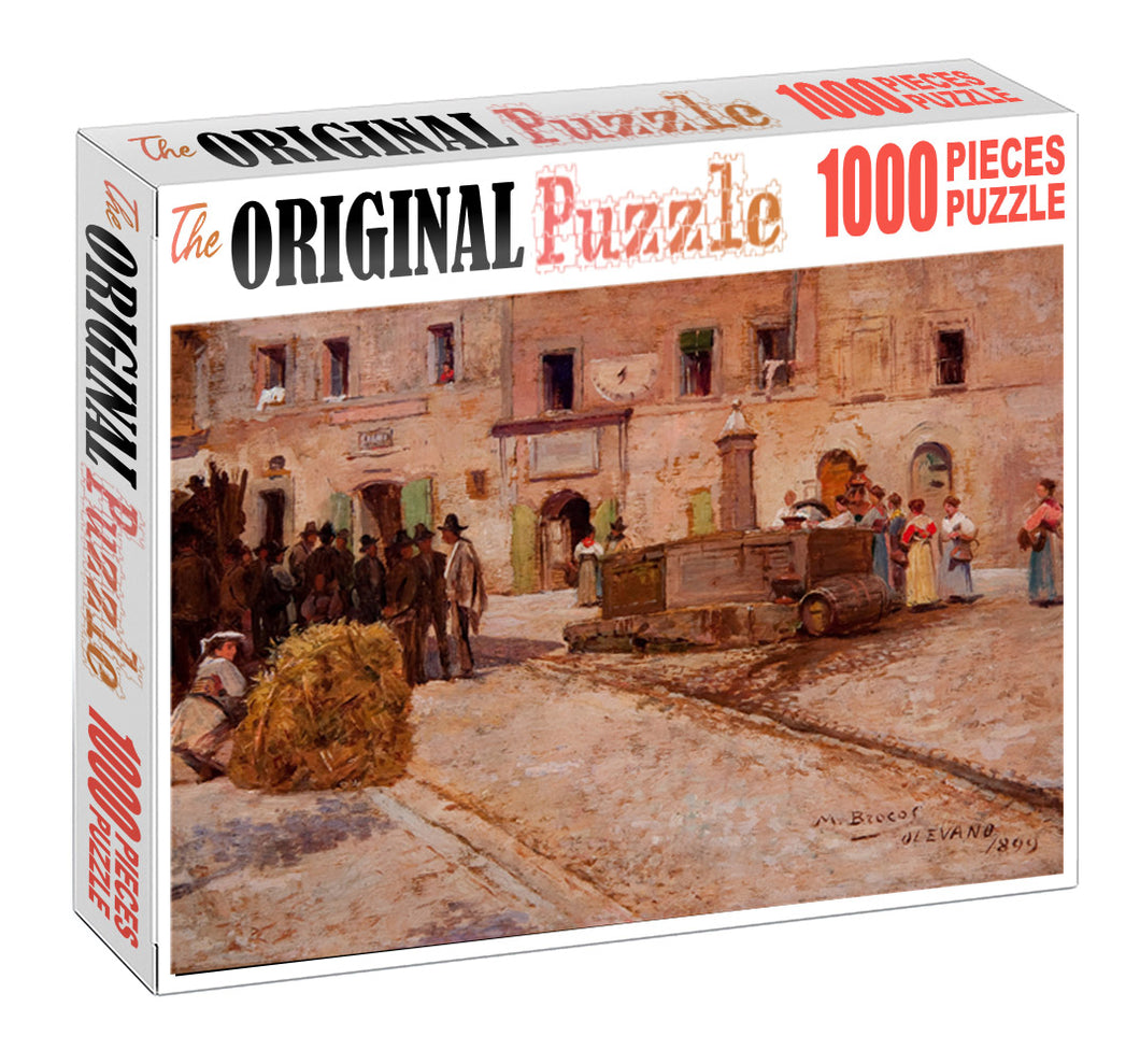 Day Hour of the City Wooden 1000 Piece Jigsaw Puzzle Toy For Adults and Kids