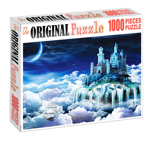Moon Castle Wooden 1000 Piece Jigsaw Puzzle Toy For Adults and Kids
