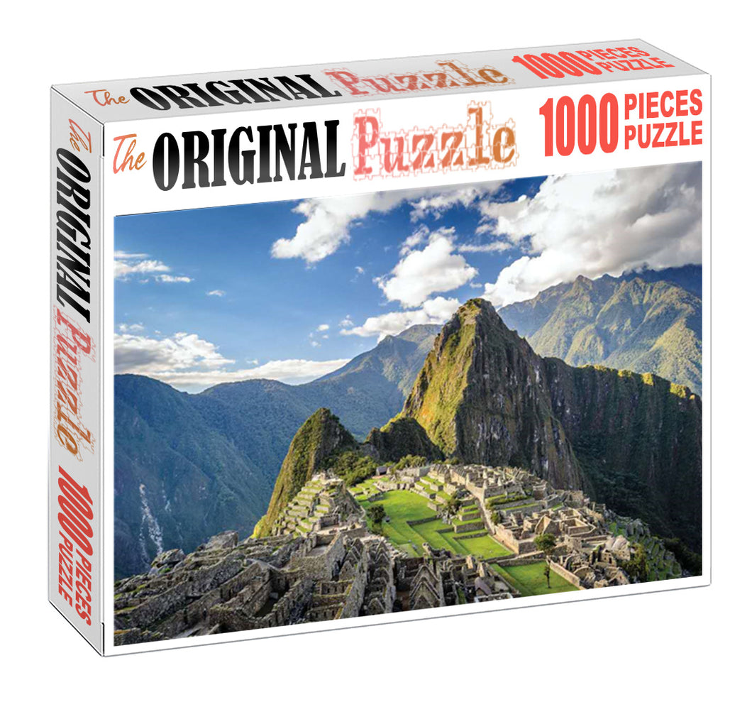 Mountain City Rio is Wooden 1000 Piece Jigsaw Puzzle Toy For Adults and Kids