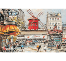 Moulin Rogue Painting Wooden 1000 Piece Jigsaw Puzzle Toy For Adults and Kids