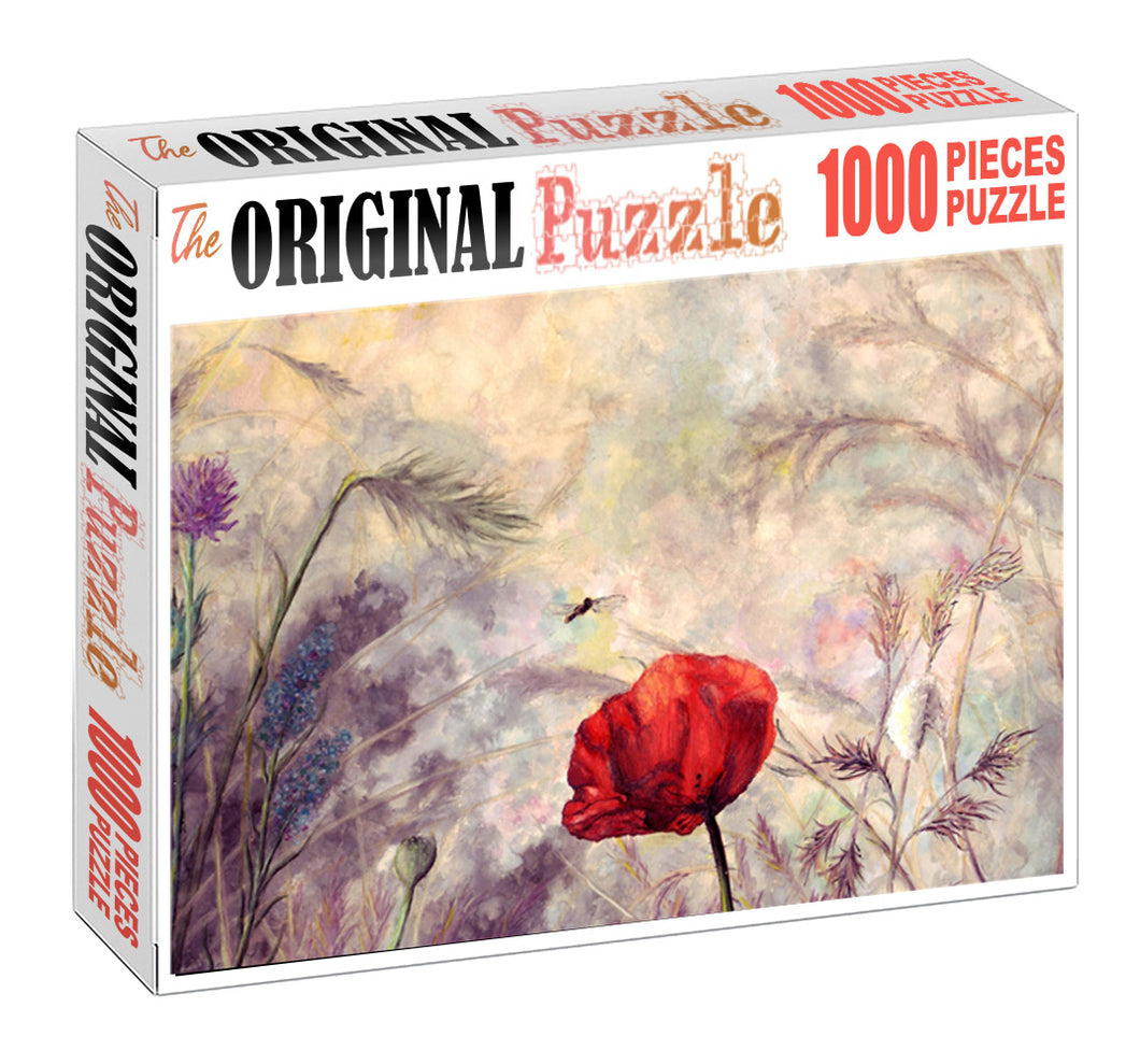 Red Tulip Wooden 1000 Piece Jigsaw Puzzle Toy For Adults and Kids