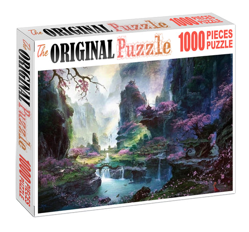 Beautiful Scenery Wooden 1000 Piece Jigsaw Puzzle Toy For Adults and Kids