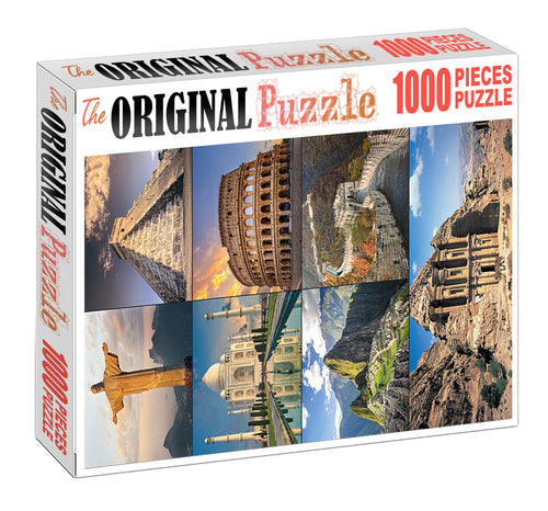 Wonders of the World Wooden 1000 Piece Jigsaw Puzzle Toy For Adults and Kids