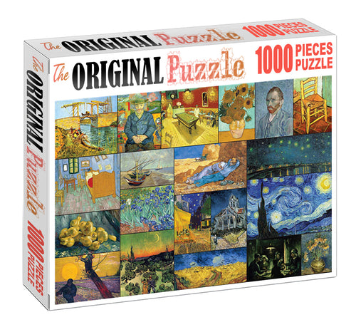 Abstract Painting Wooden 1000 Piece Jigsaw Puzzle Toy For Adults and Kids