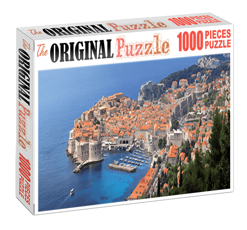 Red City of Sea is Wooden 1000 Piece Jigsaw Puzzle Toy For Adults and Kids