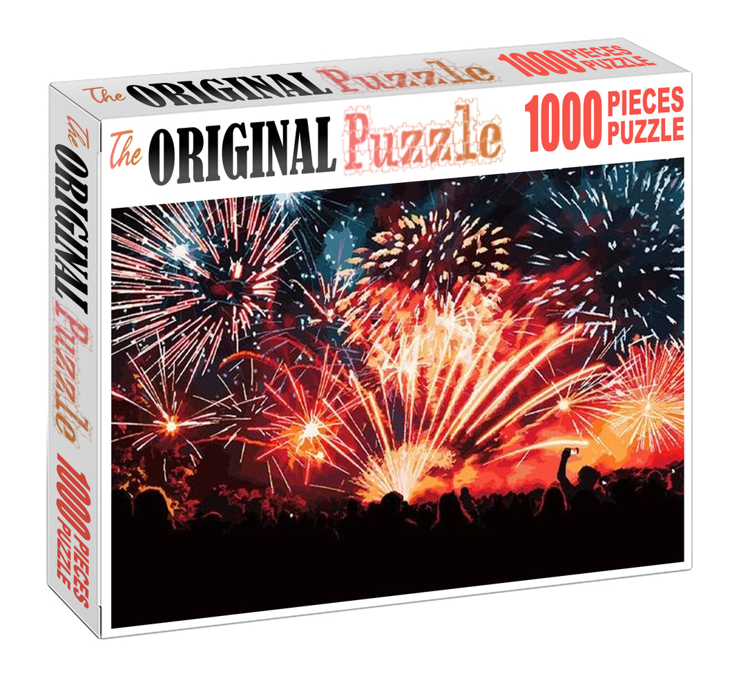 Shooting Crackers Wooden 1000 Piece Jigsaw Puzzle Toy For Adults and Kids