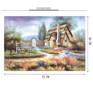 Village Handmade Hut is Wooden 1000 Piece Jigsaw Puzzle Toy For Adults and Kids