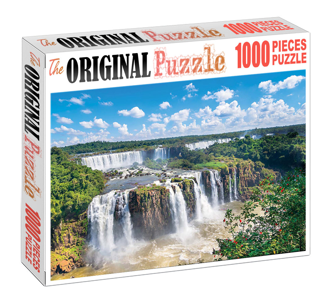 Victoria Fall is Wooden 1000 Piece Jigsaw Puzzle Toy For Adults and Kids