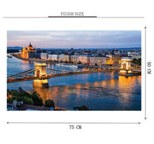 Bridge Lighting is Wooden 1000 Piece Jigsaw Puzzle Toy For Adults and Kids