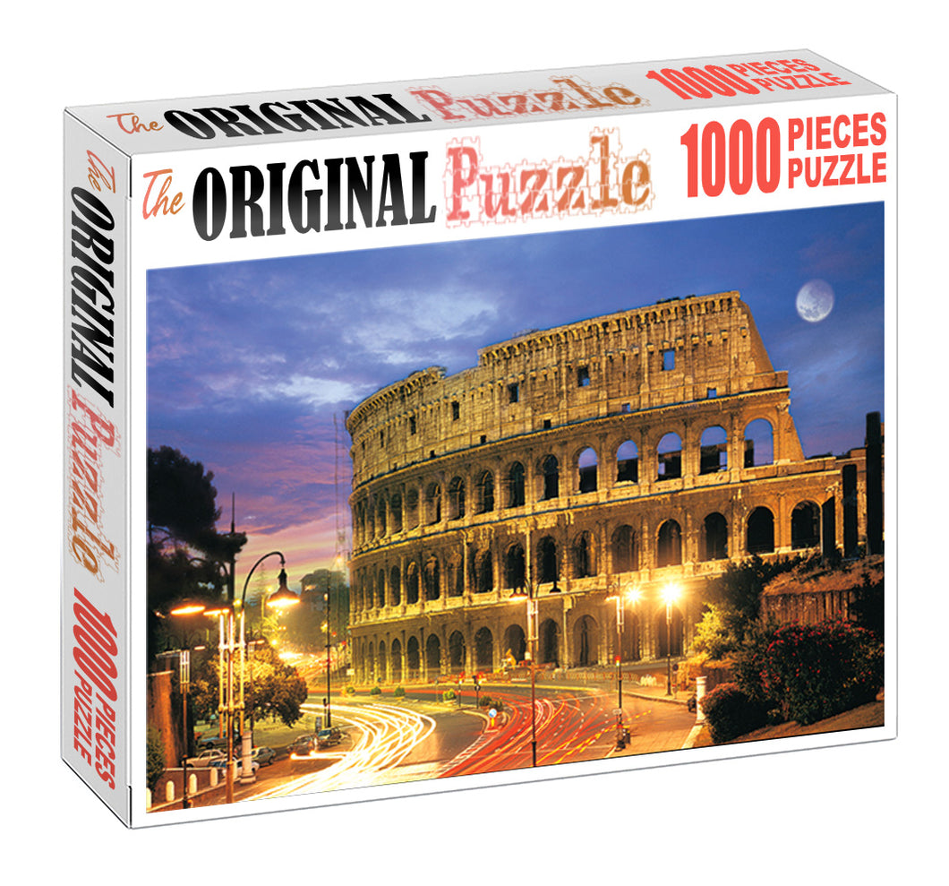 Rome Colosseum is Wooden 1000 Piece Jigsaw Puzzle Toy For Adults and Kids