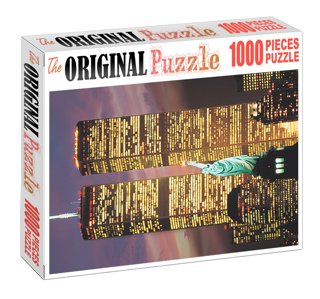 World Trade Tower is Wooden 1000 Piece Jigsaw Puzzle Toy For Adults and Kids