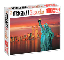 Focusing Trade Centre Building is Wooden 1000 Piece Jigsaw Puzzle Toy For Adults and Kids