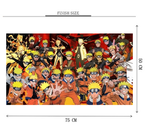 Naruto Clones Wooden 1000 Piece Jigsaw Puzzle Toy For Adults and Kids