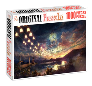 Japanese New Year Wooden 1000 Piece Jigsaw Puzzle Toy For Adults and Kids