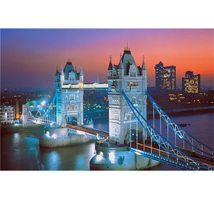 Twin Tower Bridge of City is Wooden 1000 Piece Jigsaw Puzzle Toy For Adults and Kids