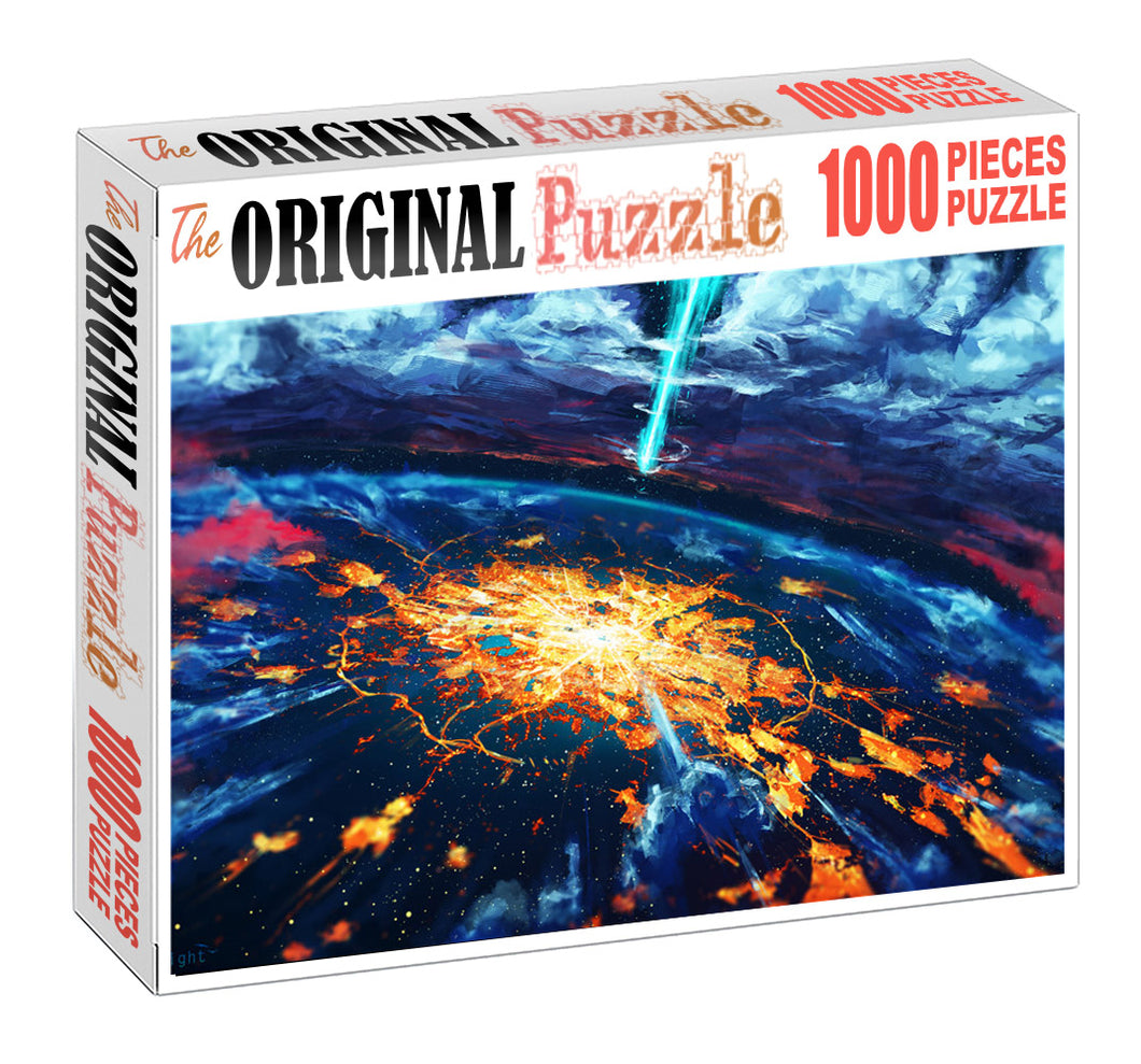 End of the World Wooden 1000 Piece Jigsaw Puzzle Toy For Adults and Kids