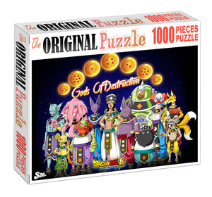 God of Destruction Wooden 1000 Piece Jigsaw Puzzle Toy For Adults and Kids