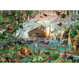 Noah Ark Wooden 1000 Piece Jigsaw Puzzle Toy For Adults and Kids