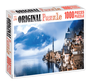Dusky View of Houses is Wooden 1000 Piece Jigsaw Puzzle Toy For Adults and Kids