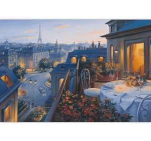 Dinner at Balcony Wooden 1000 Piece Jigsaw Puzzle Toy For Adults and Kids