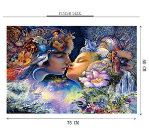 Radha Krishan Art Wooden 1000 Piece Jigsaw Puzzle Toy For Adults and Kids