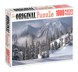 Ice Mountain Valley is Wooden 1000 Piece Jigsaw Puzzle Toy For Adults and Kids