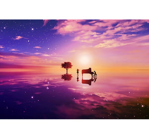 Red Sky and Land Wooden 1000 Piece Jigsaw Puzzle Toy For Adults and Kids