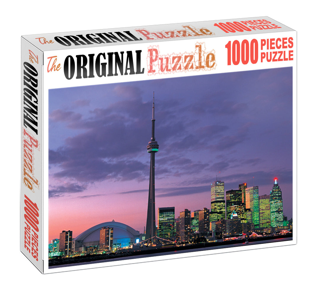 Skyscrapper Dubai is Wooden 1000 Piece Jigsaw Puzzle Toy For Adults and Kids