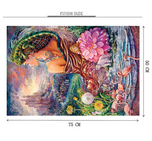 Abstract Art of Girl Wooden 1000 Piece Jigsaw Puzzle Toy For Adults and Kids